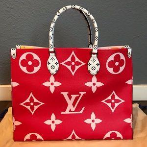 Louis Vuitton Monogram Giant OnTheGo Shopper Rouge